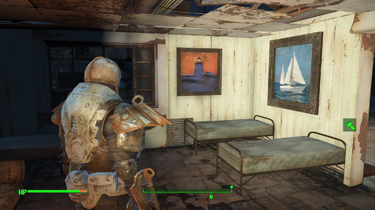 Pipboy Light To Spotlight - [PS4]Fallout4MOD